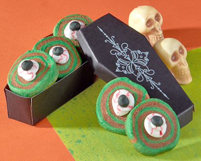 Zombie Eye Pinwheel Cookies