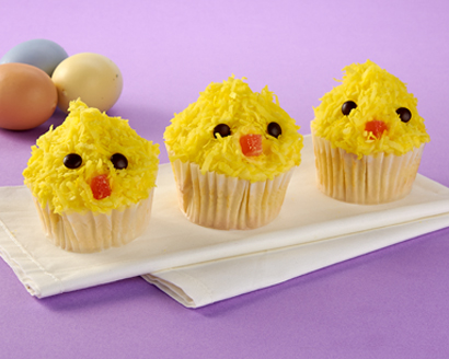 All-in-One Cupcakes and Frosting - Baby Chicks