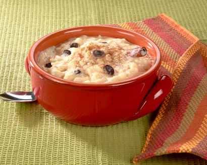 Creamy Rice Pudding (Arroz con Leche) with Cinnamon and Raisins
