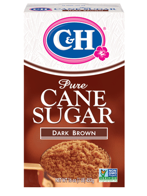 C&H® dark brown sugar - azúcar de color café oscura