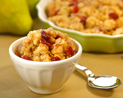 Pear and Cranberry Crisp