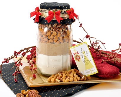 Butterscotch Pecan Cookie Mix in a Jar