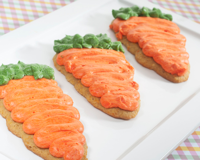 Carrot Shaped Cake Cookies