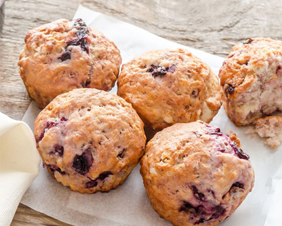 Buttermilk Cherry Muffins
