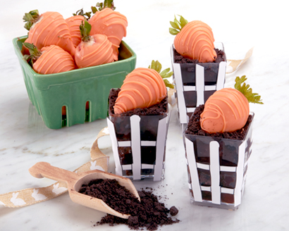 """Chocolate """"Carrot Patch"""" Cups"""