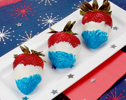 Star Sprinkled Strawberries