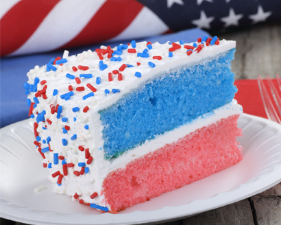 Red, White and Blue Layer Cake