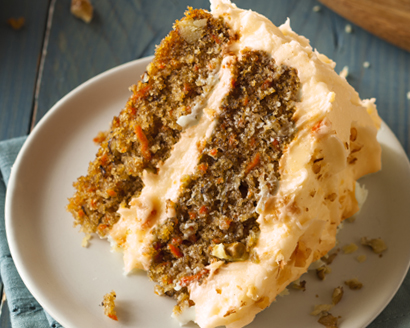 Carrot Layer Cake with Orange Buttercream Frosting