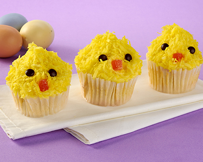 All-in-One Cupcakes and Frosting--Baby Chicks