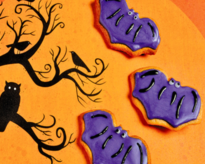 Halloween Bat Sugar Cookies