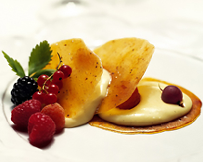 Creme Brulee With Glassine Tuiles