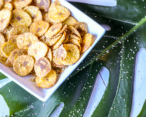 Honey Ginger Fried Plantain Chips