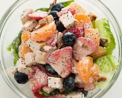 Strawberry Salad with Honey-Poppy Seed Dressing