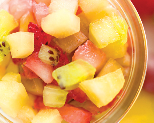 Lemonade Dressing with Fruit Salsa