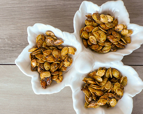 Mustard Onion Pumpkin Seeds