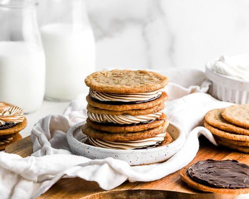 Smores Sugar Cookie Sandwiches